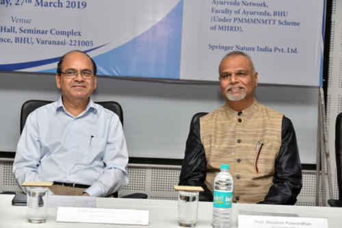Prof. Bhushan Patwardhan, Vice Chairman, UGC and Prof. Rakesh Bhatnagar, Vice Chancellor, BHU during the symposium on 'Where and How to Publish?'
