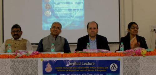 Dignitaries on the occasion of an invited lecture by Dr. Anand Swaroop